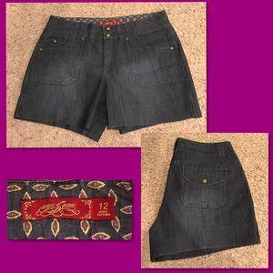 One 5 One Dark Denim Jean Shorts