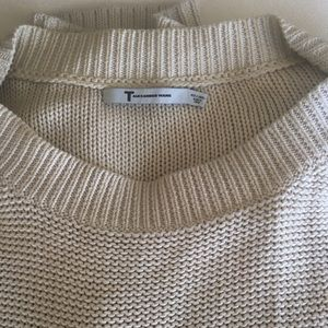 T by Alexander Wang Sweaters - T by Alexander Wang Cream Button Tunic Sweater