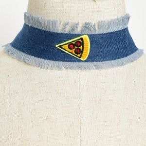 amandine boutique Jewelry - 5⭐️rated😍🍕 i love pizza Denim pizza chocker🍕😍