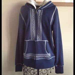 Ariat Tops - ARIAT blue zip up hoodie NWT S/P & M