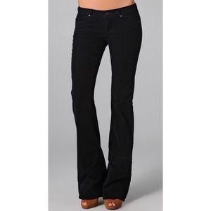Paige Jeans Pants - Paige Premium Denim Black Corduroy Flare Bottom