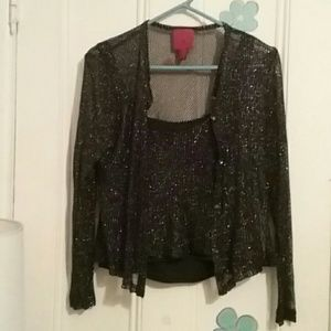 JS Collections Tops - Shimmering Black top