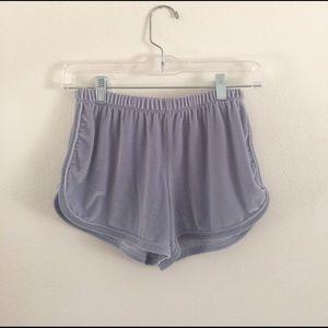Brandy Melville Pants - Blue Lisette Velvet Shorts