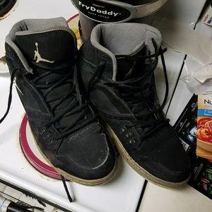 Black and Grey Jordan's