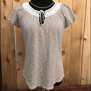 Lucky Brand Tops - 🆕 Lucky Brand Lace Neckline Top