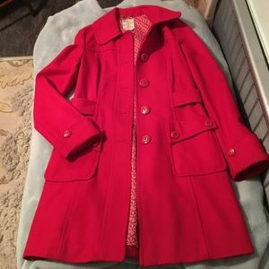❤️Tulle Red Wool Peacoat❤️