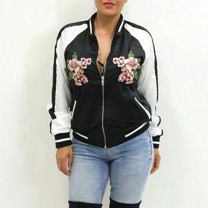 'Flor' Flower Embroidered Jacket