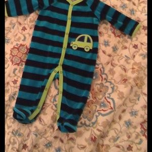 Offspring Other - Velour footie pajamas