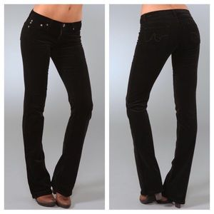 AG Adriano Goldschmied Pants - AG Black Cords The Angel Boot Cut