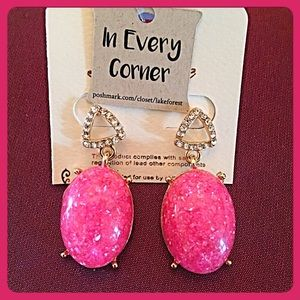 InEveryCorner Jewelry - 30% OFF BUNDLES💗Gorgeous Hot Pink Drop Earrings💗