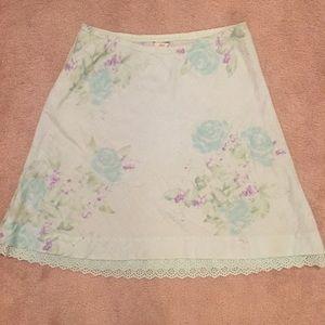 J. Jill Dresses & Skirts - J. Jill Aqua floral linen skirt