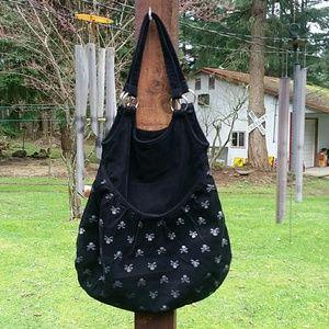 Anchor Blue  Handbags - Anchor Blue - Skeleton Handbag (Black Corduroy)