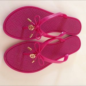 Tory Burch Shoes - Tory Burch Pink Jelly Sandals