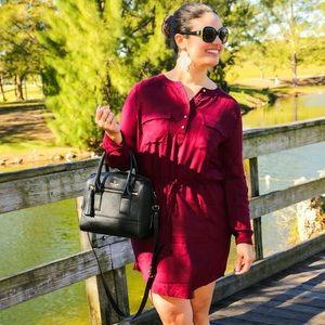 Forever 21 Dresses & Skirts - Burgundy shirt dress