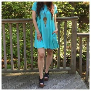 Mint chic swing dress ONE HOUR SALE