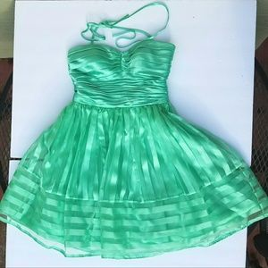 Morgan & Co green tulle Dress size 3 junior