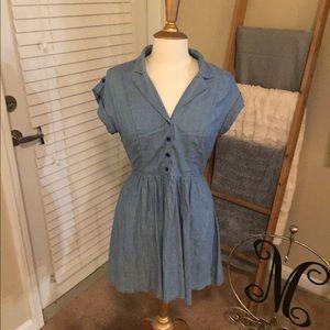 Denim mini dress/tunic