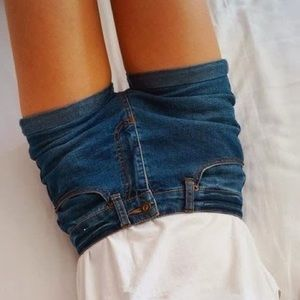 Levi's Pants - LEVI'S NWOT dark blue jean shorts high waisted