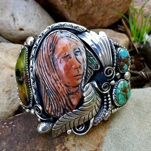 Francisco Gomez Spiny Oyster Indian Brave Cuff