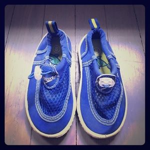 Speedo Other - Speedo blue & lime green water shoes. Size Small.