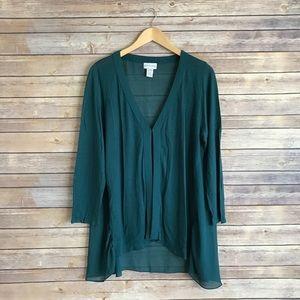 soft surroundings Sweaters - Soft surroundings sheer black cardigan