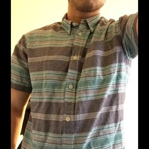 Retrofit Other - teal and grey button up shirt