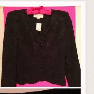 Christian Dior Jackets & Blazers - Christian Dior Silky Paisley Black Blazer!