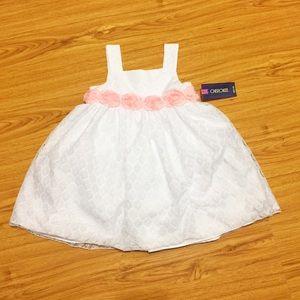  Little white dress for girls - 2T