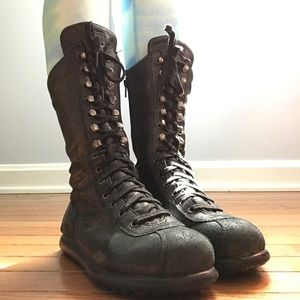 Camper Shoes - camper black leather mid calf boots size 38