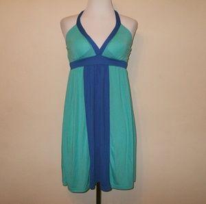 Grane Dresses & Skirts - SALE!!! Soft Aqua & Blue Halter Dress
