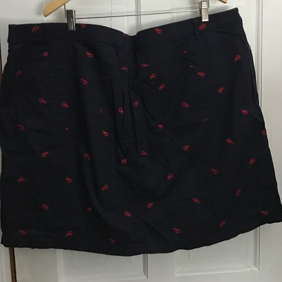 60% off croft & barrow Dresses & Skirts - Navy & Red Preppy Lobster Skirt Skort Size 24W from ...