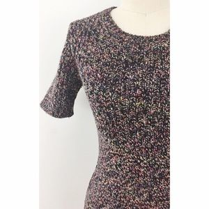 Theory Dresses & Skirts - Space-Dye Chain Knit Multicolored Dress