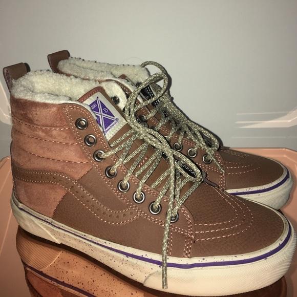 Women's shoes Vans Sk8 Hi 46 MTE (Hana Beaman) Brown