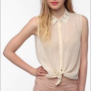 Sparkle & Fade Tops - Sparkle and Fade studded blouse