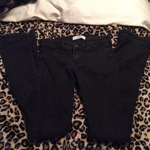 Black Hollister low rise bootcut jeans