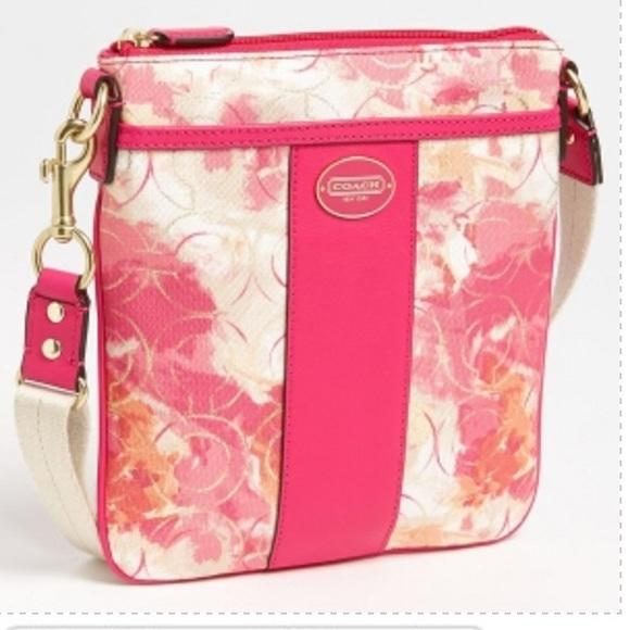 49% Off Coach Handbags - (SOLD) Pink Floral Coach Cross Body From Kristiu0026#39;s Closet On Poshmark