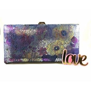 Lodis Handbags - NEW Gorgeous LODIS leather framed wallet/clutch