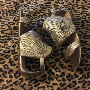 Banana Republic Shoes - Banana republic sandals gold size 7
