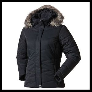 columbia // simply snowy down fur lined puffy coat