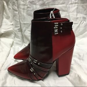 L.A.M.B. Shoes - L.a.m.b Martini red ankle bootie size 7