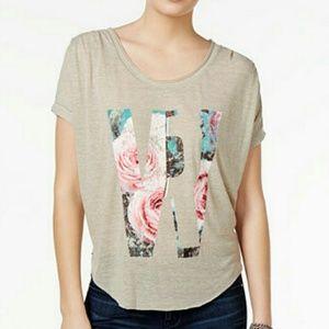 William Rast Tops - William Rast Tan with Flowers T-shirt  sz XLarge