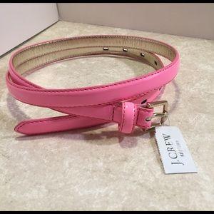 J. Crew Factory Accessories - J.Crew pink patent leather thin belt