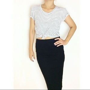 "Atid Clothing Tops - Atid Super Cute Striped ""Lilie Top"""
