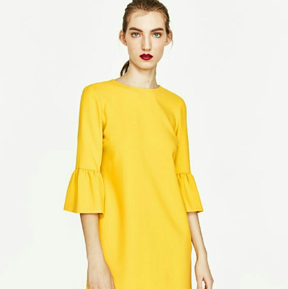 Zara Dresses & Skirts - Zara Dress with Frilled Sleeves, new with tags