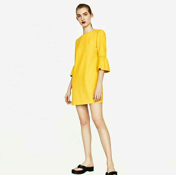 Zara Dresses - Zara Dress with Frilled Sleeves, new with tags