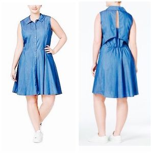 Stoosh Dresses & Skirts - Stoosh Denim Fit & Flare Dress! 👗