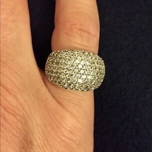 Journee Collection Jewelry - Sterling pave cz dome ring. Very sparkly! Size 5.