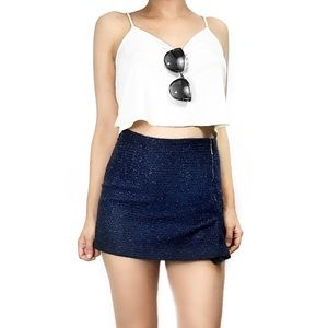 Zara Dresses & Skirts - Zara blue tweed skirt