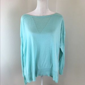 Two by Vince Camuto Tops - Two by Vince Camuto Light Blue Mesh Tunic Sweater