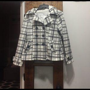 Sebby Jackets & Blazers - Sebby hooded fleece jacket in cute print size M